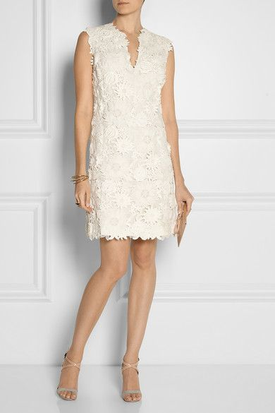 Tory Burch Merida guipure lace and silk dress