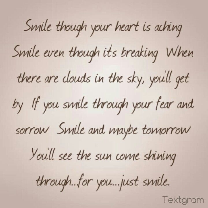 Smile Even Though Your Heart Is Breaking Quotes