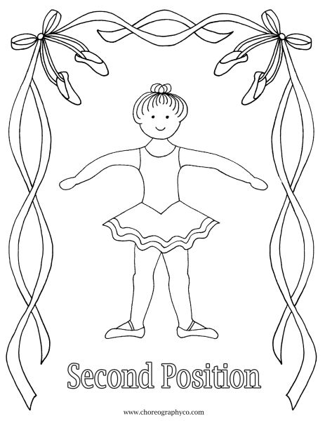 Reproducible Ballet Coloring Pages Master Small Page 02 Second