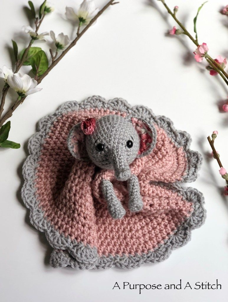 Ellie the Elephant Lovey- Free Pattern - A Purpose and A Stitch