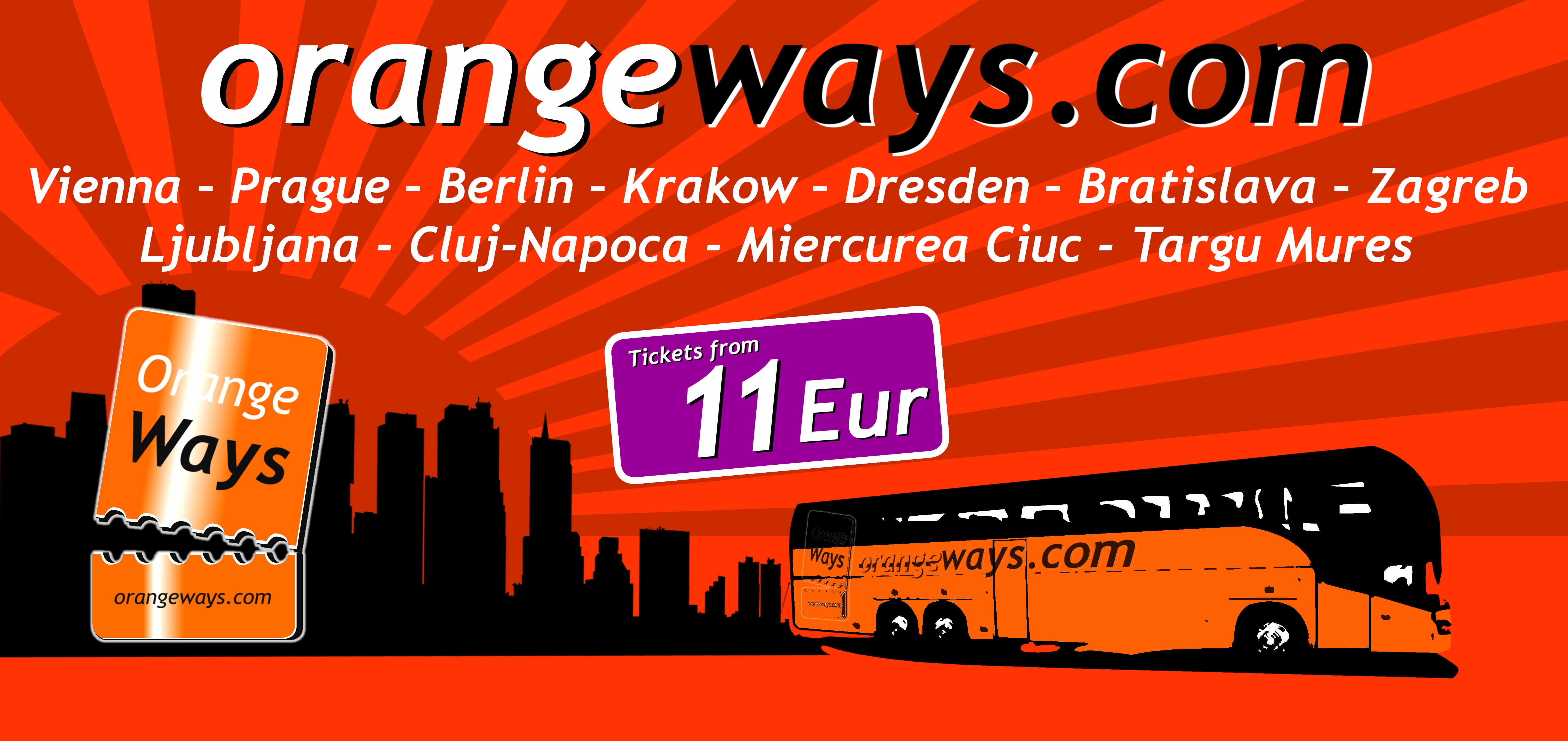 Orangeways Com Cheap Bus Lines From And To Budapest Cheap Bus Bus Line Budapest