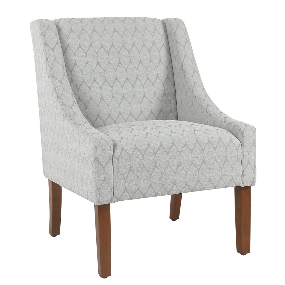 Homepop Modern Geo Textured Gray Modern Swoop Accent Chair