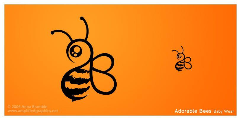 Adorable Bees Baby Wear Logo by AnnaBramble.deviantart.com on @deviantART