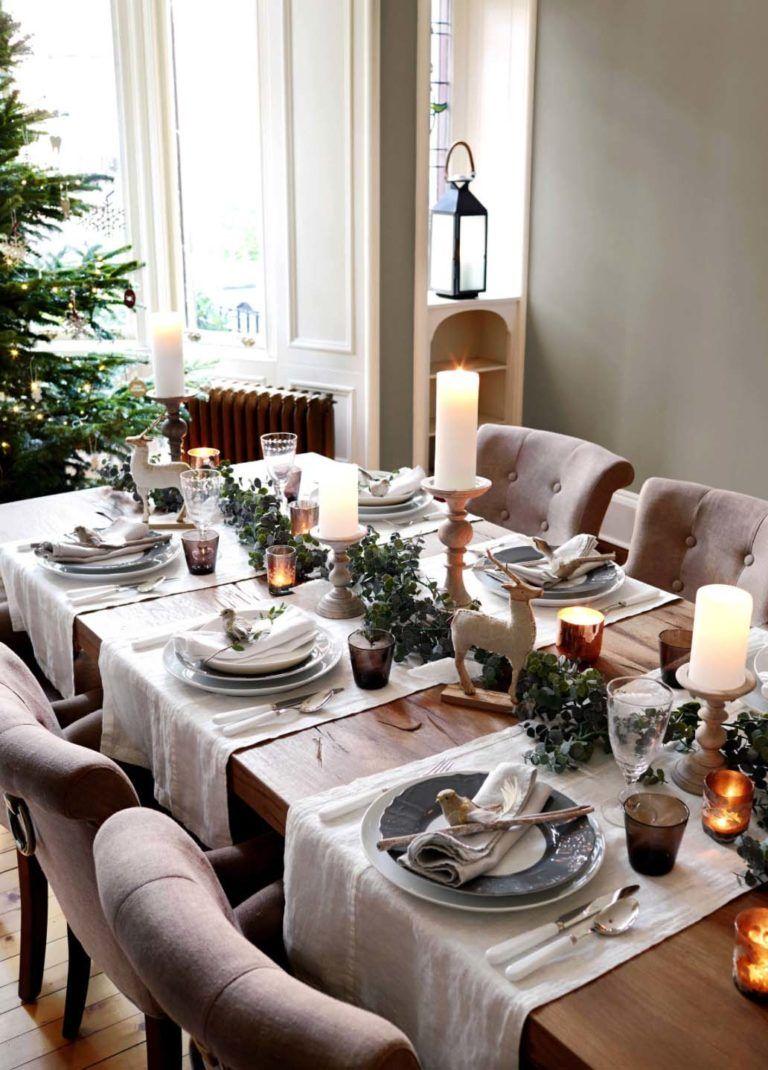 33 Inspiring Christmas Decor Ideas To Elevate Your Dining Table Christmas Dining Table Christmas Dinner Table Christmas Dining Room