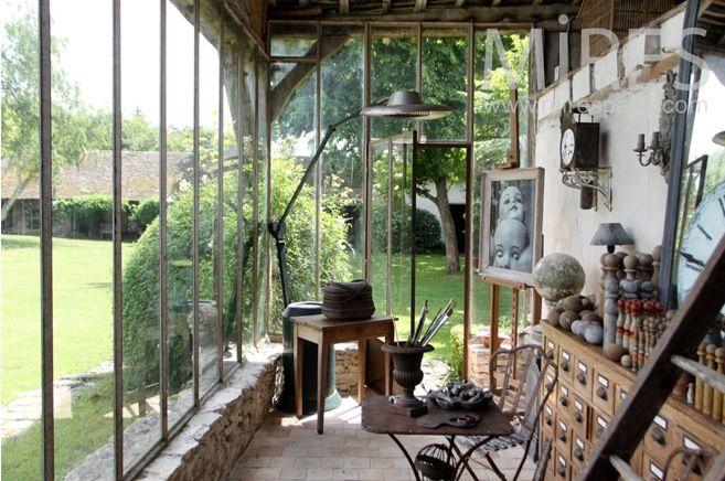 pingl par patricia bezier sur veranda pinterest jardin d 39 hiver petit jardin d 39 hiver et. Black Bedroom Furniture Sets. Home Design Ideas