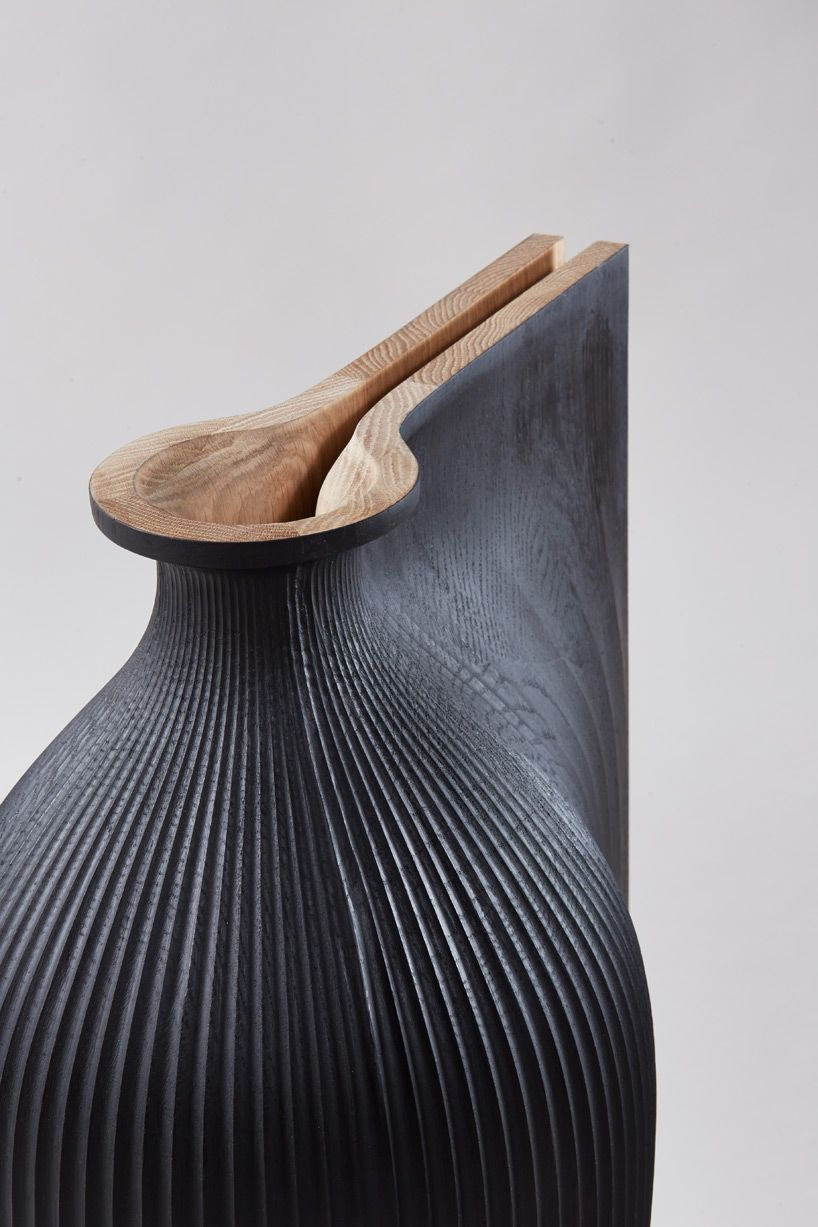 zaha hadid and gareth neal collaborate on fluid sculptural vessels More