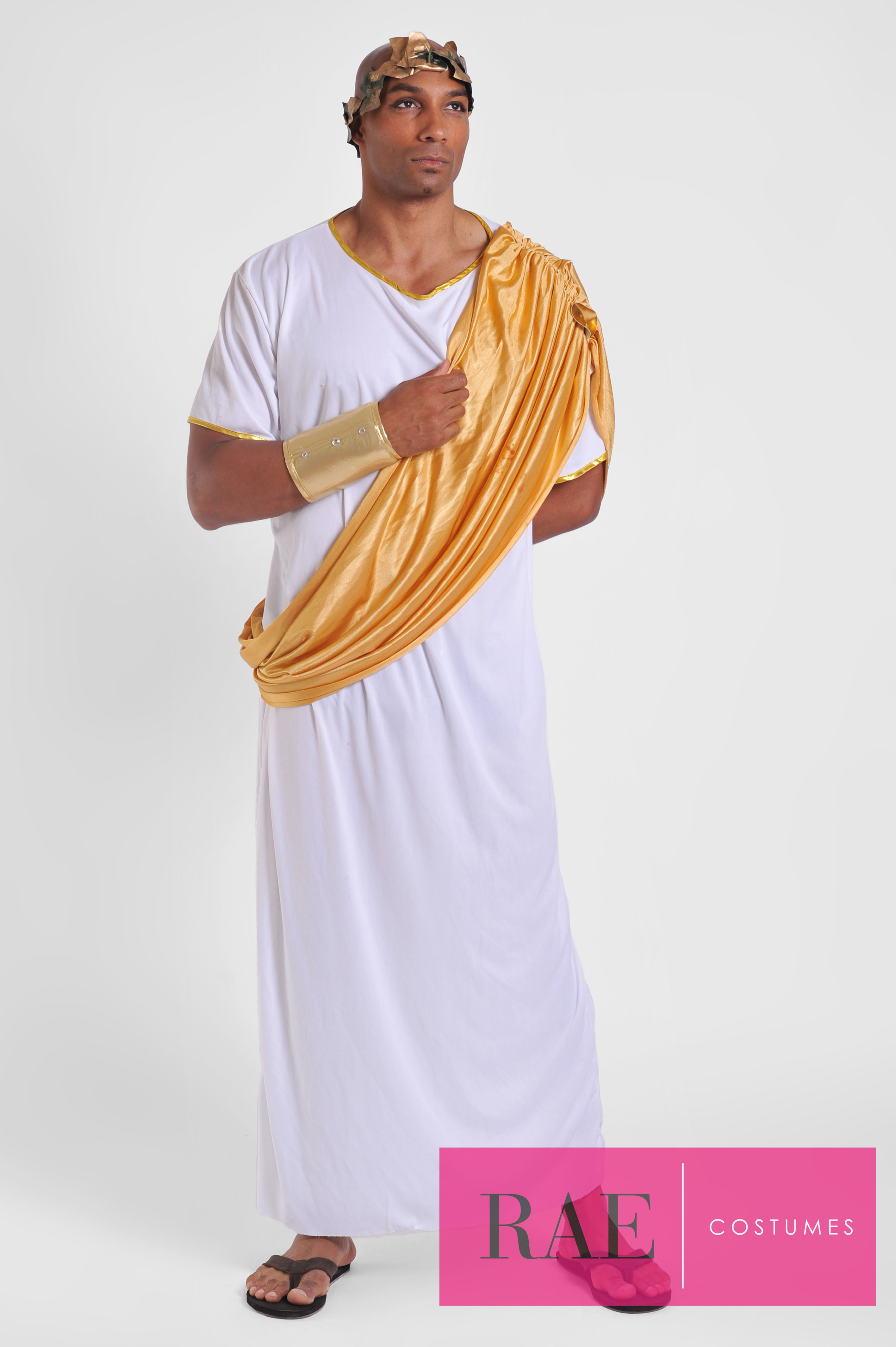 100c596fc94 Dress like a king with this Roman King costume! (Quantity 1) Costume  Includes: Toga w/ Sash, Headpiece, Gold Cuff - More info: raecostumes.com |  415-678- ...