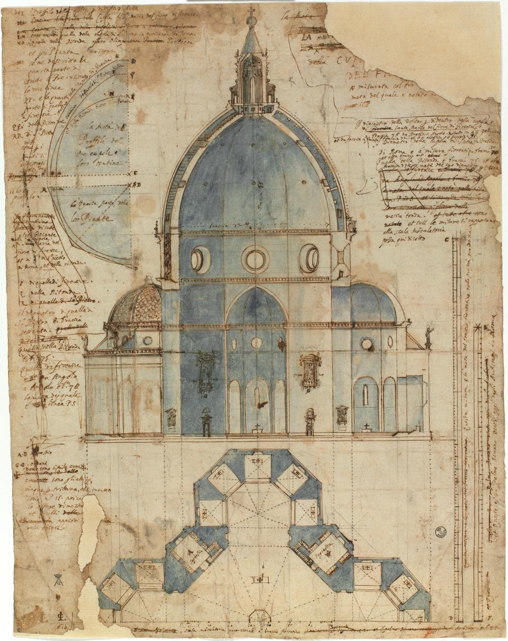 Cafe De Nuit Lodovico Cardi Detto Il Cigoli Cigoli Di San Miniato 1559 Roma 1613 Disegno De Architecture Drawing Renaissance Architecture Florence Dome