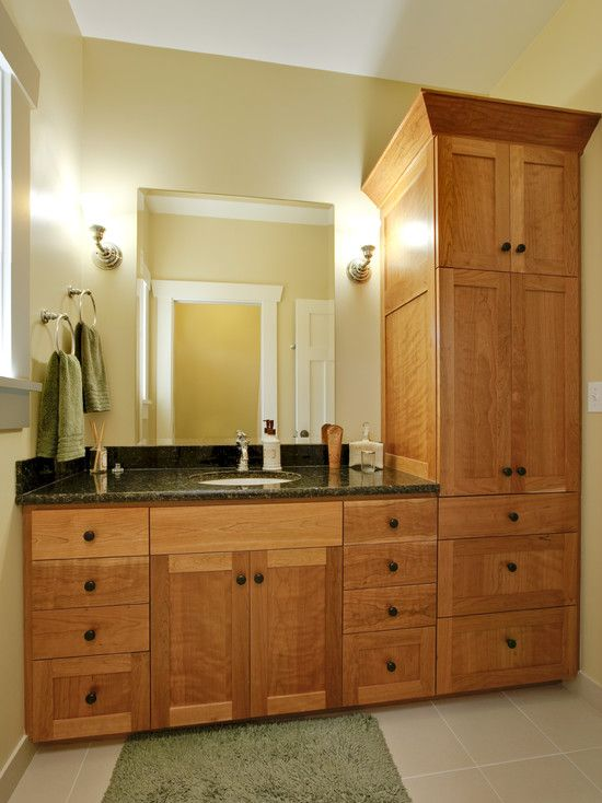 Tall Bathroom Cabinet Design Pictures Remodel Decor And