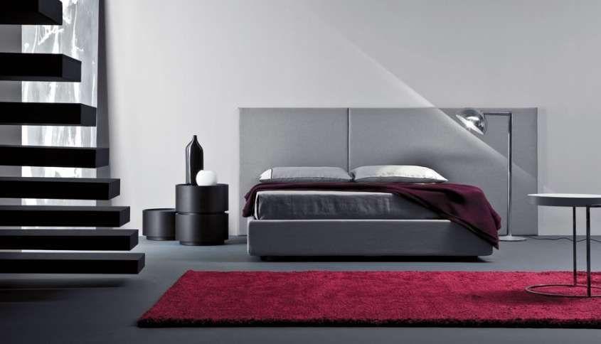 I colori adatti per le pareti di casa - Camera da letto grigia ...