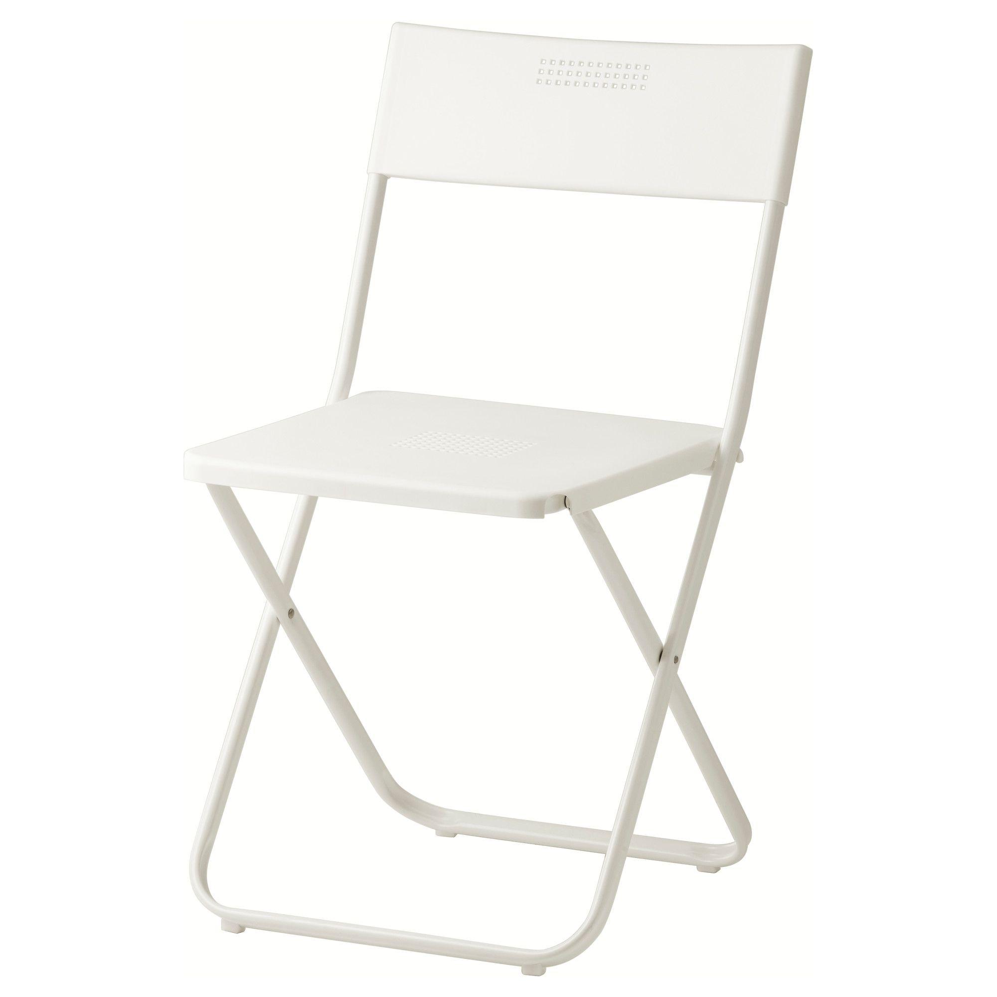 ikea folding chair babies r us rocking australia fejan outdoor white foldable spaces 10 each