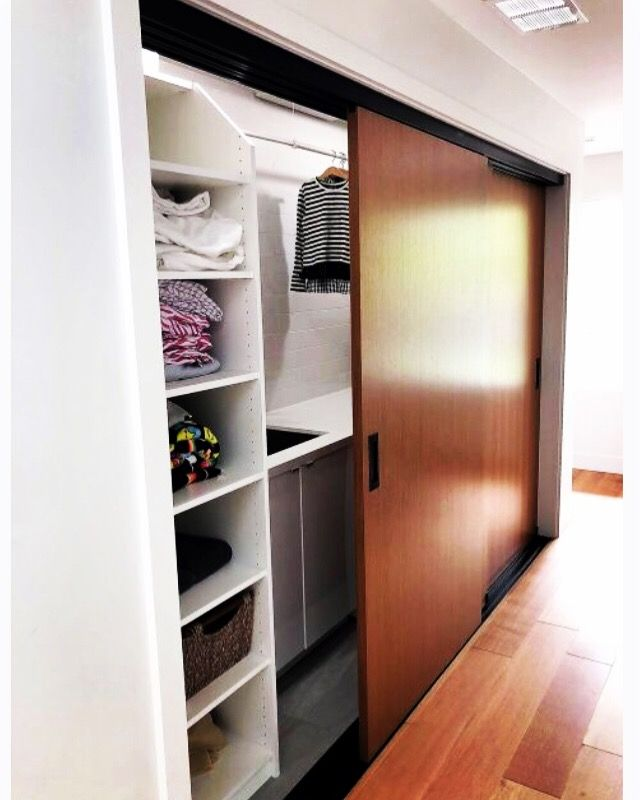 Is Your Laundry Room This Easy To Use? A Second Floor