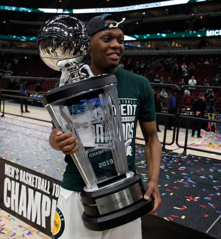 Cassius Winston Big 10 Tournament Champs Michigan State Basketball Michigan State Ncaa Tournament