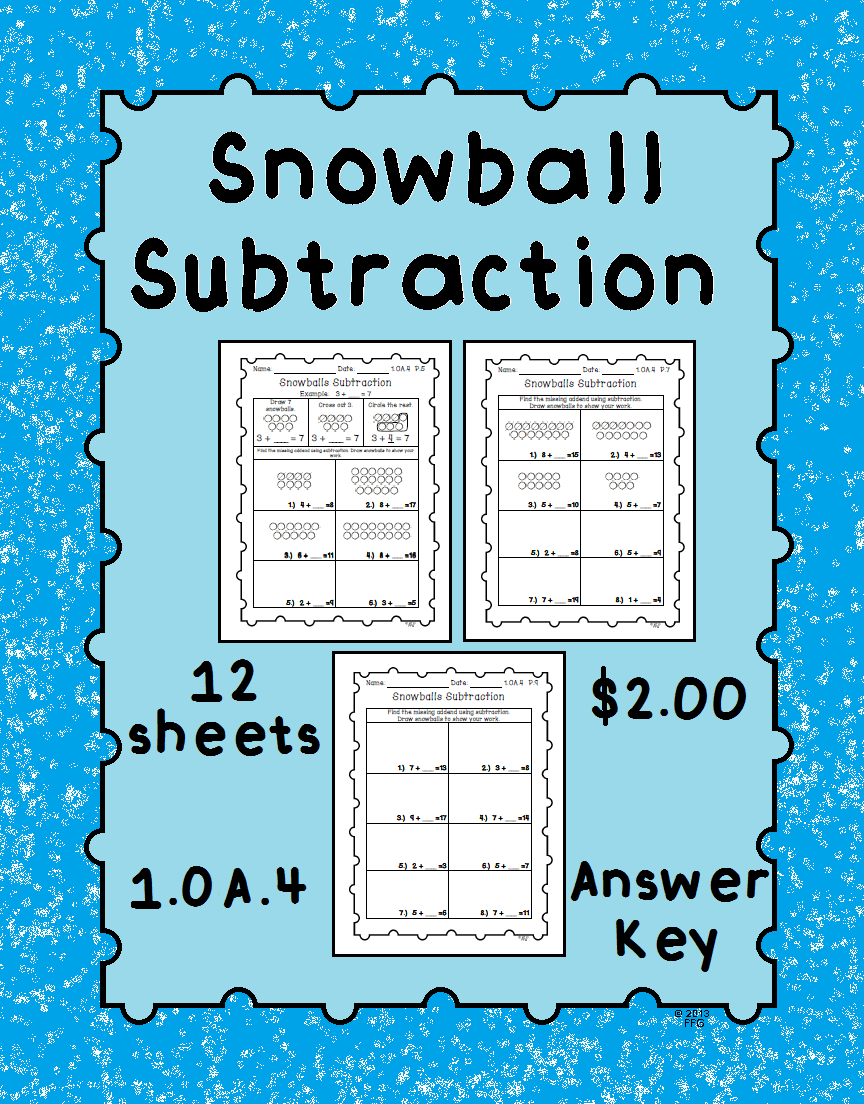 Subtraction with Addends Worksheets | Differentiation, Worksheets ...