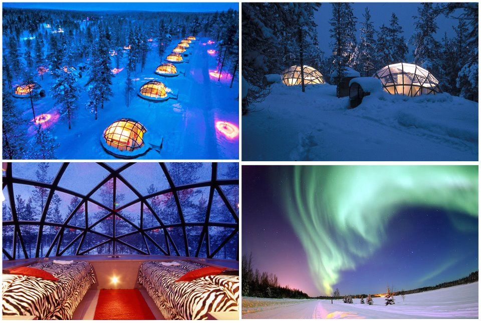 Spend The Night In A Gl Igloo To See Northern Lights Hotel Kakslauttanen Village Finland
