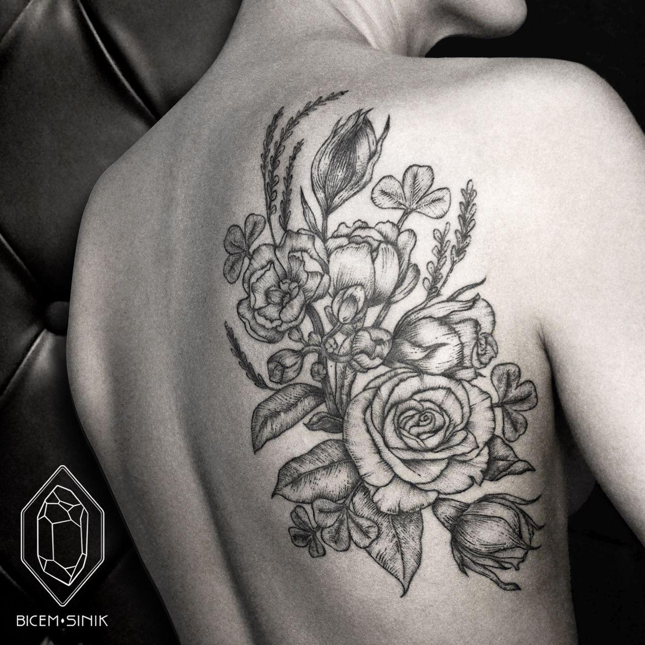 Bicem Sinik Tattoos Back Piece Tattoo Flower Tattoo Back