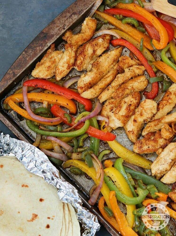 Photo of Weight Watchers Sheet Pan Chicken Fajitas · The Inspiration Edit