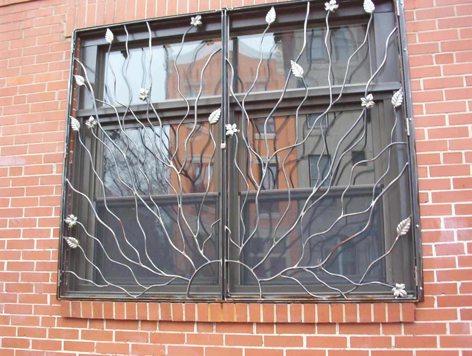 Drews iron fencing services metal work for class for Window protector designs