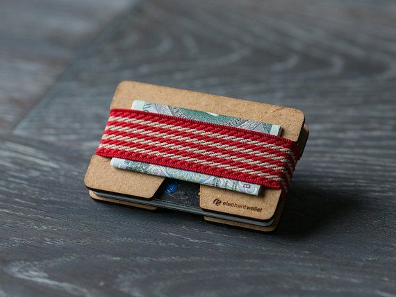 wooden wallet credit card holder men's and women's
