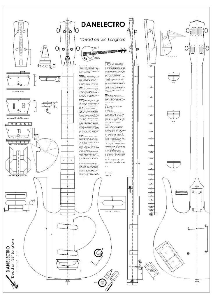 Full Scale Plans for the Gibson Les Paul Double Cutaway Electric - action plan in pdf