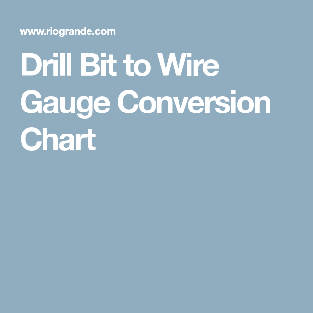 Drill bit to wire gauge conversion chart jewelry tips pinterest drill bit to wire gauge conversion chart jewelry tips pinterest drill bit gauges and rio grande jewelry greentooth Image collections