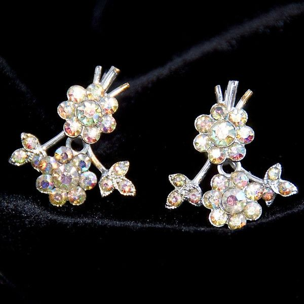 Vintage Sparkle Flower Screw Back Earrings at http://ptbchic.com/collections/new/products/vintage-sparkle-flower-screw-back-earrings