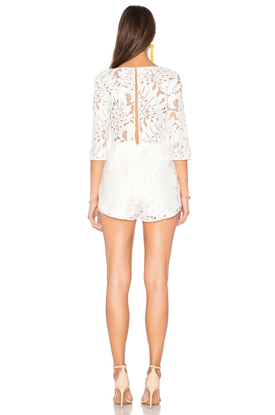 fc2940f3a7 Alice McCall Rumours Playsuit en Blanco
