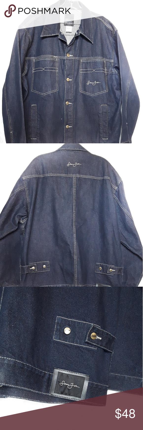 Sean John Denim Jacket Sz Large Denim Jacket Clothes Design Jackets [ 1740 x 580 Pixel ]