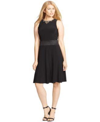Lauren Ralph Lauren Plus Size Embellished Jersey Dress