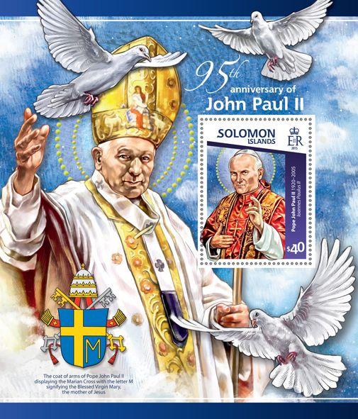 Post stamp Solomon Islands SLM 15114 b95th anniversary of John Paul II (1920–2005. Ioannes Paulus II)