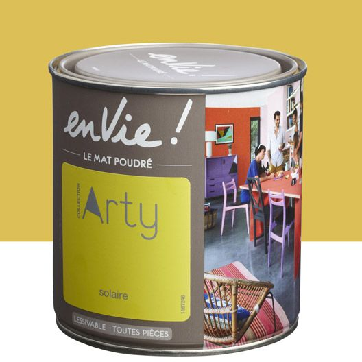 Peinture multisupports Envie Collection Arty LUXENS, jaune solaire