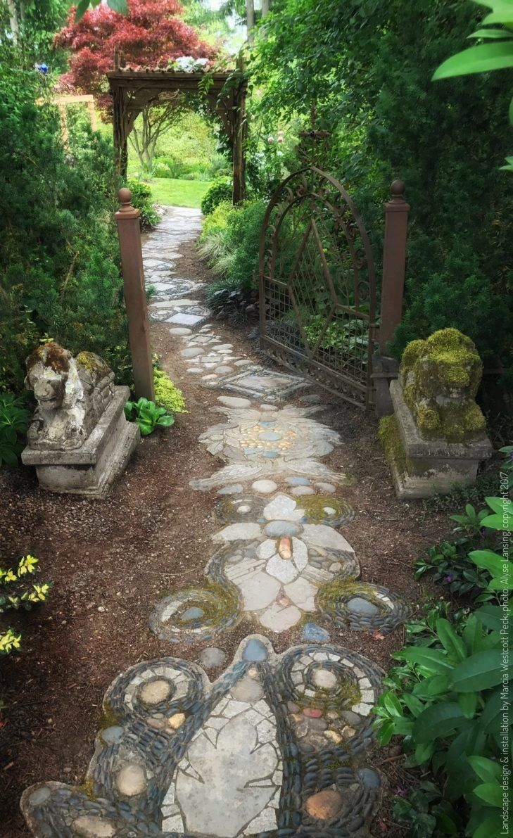 Extraordinary Garden Path Gravel Gardens Design Ideas Wooden