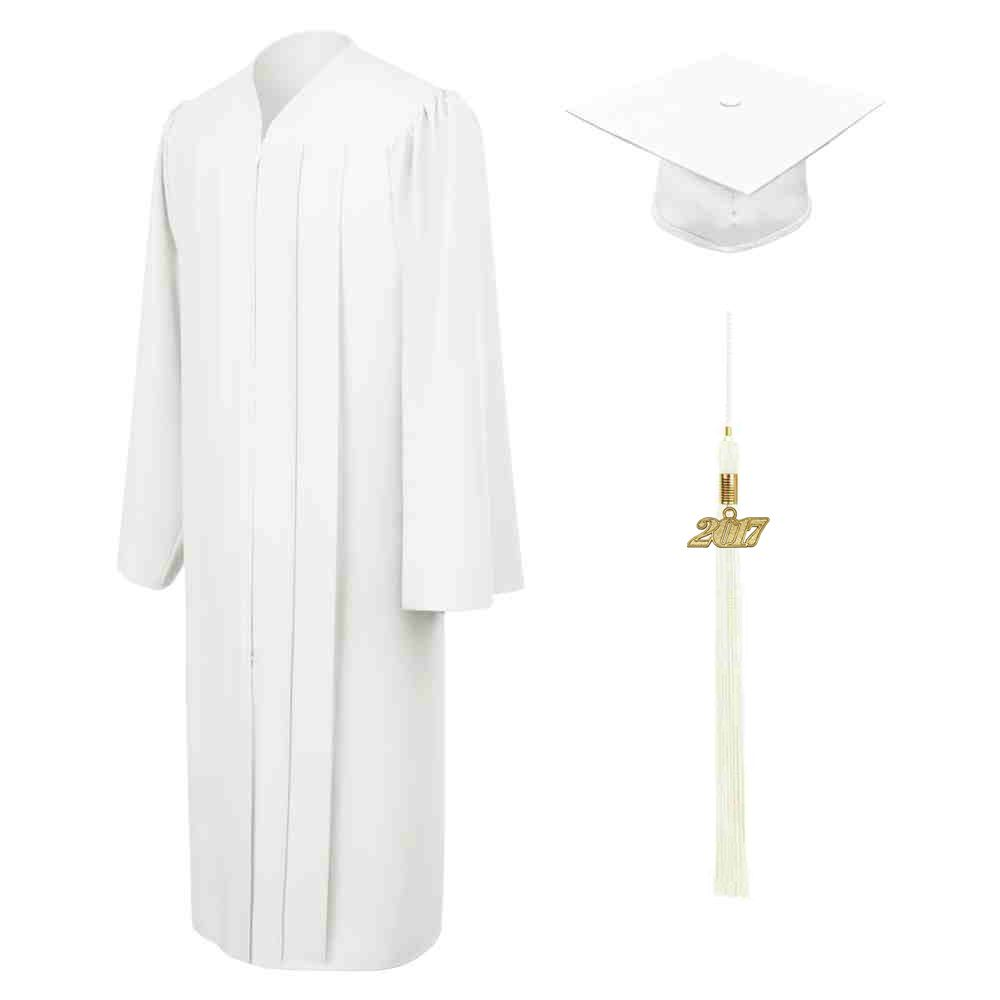 MATTE WHITE CAP, GOWN & TASSEL - All of our graduation sets arrive ...