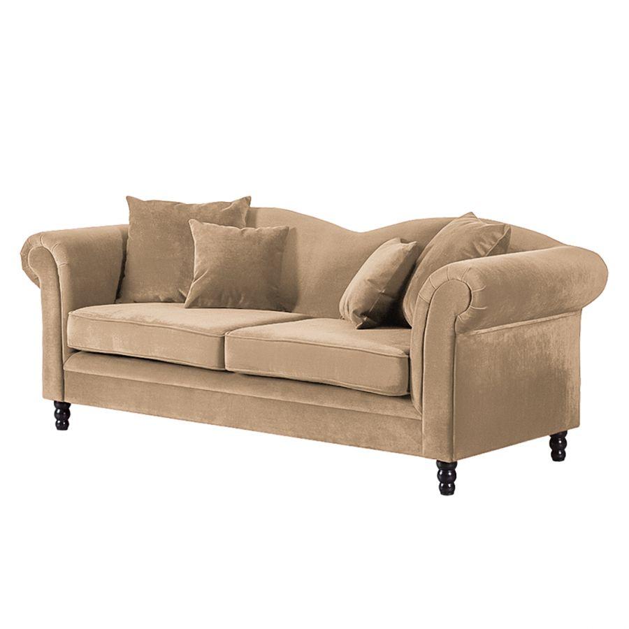 Sofa York 3 Sitzer Samt Sofa Sofa Landhausstil Und 3 Sitzer Sofa