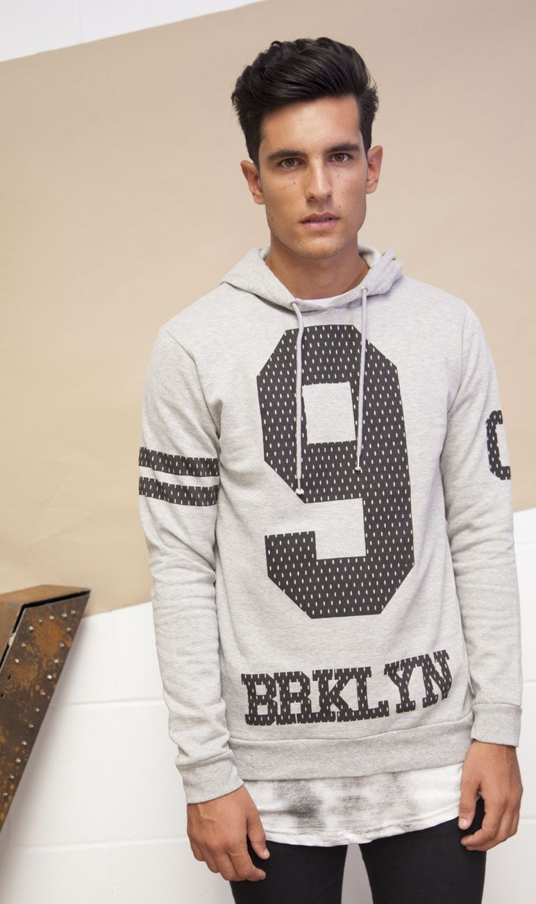 Sudadera gris Brooklyn Moda online | Ropa Hombre JVZ