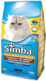 CROQUETTES WITH CHICKEN - Complete food for cats with vitamins A, D3-E that promote the health and well-being of the animal.