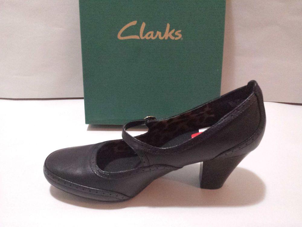 Clarks Ruby Heart Pumps Heels Womens Size 11M Shoes Black Fashion Maryjane