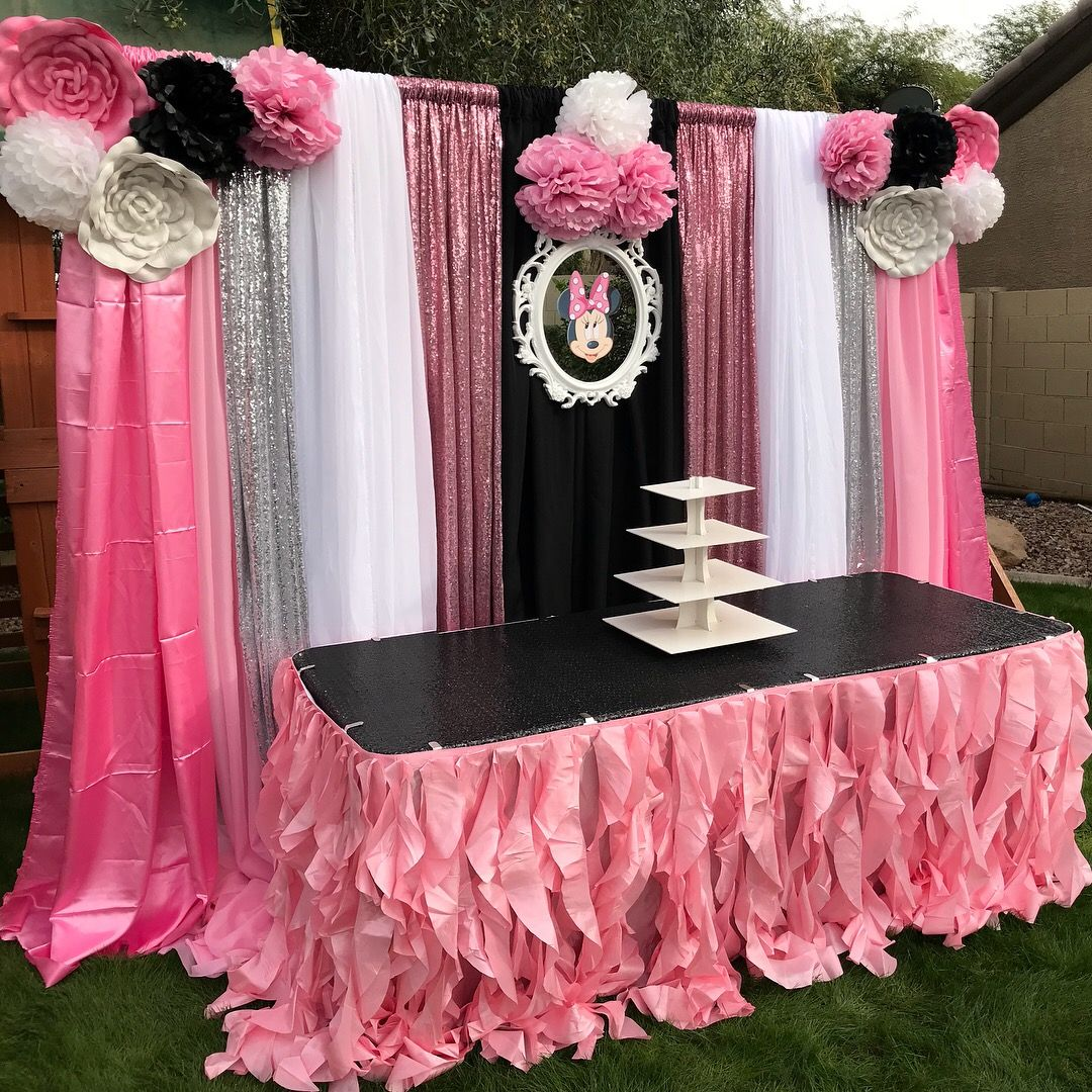 Minnie Table And Chairs Chair Cover Hire Norfolk Mouse Birthday Party Main Set Up By Bella Decor In Chandler Arizona
