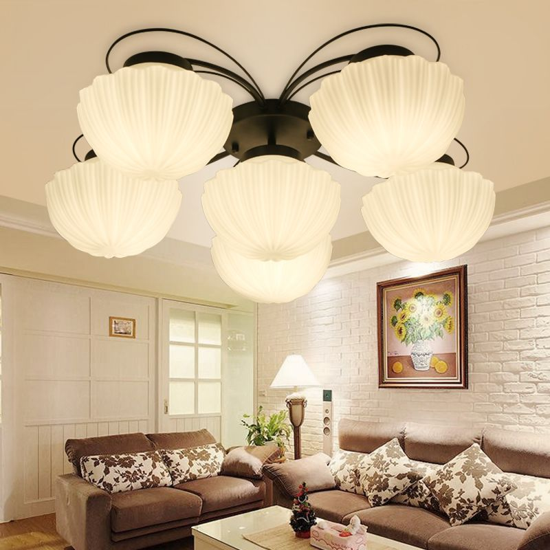 Find More Ceiling Lights Information About Modern Lustre LED Light American Country Shell Lamp Shade
