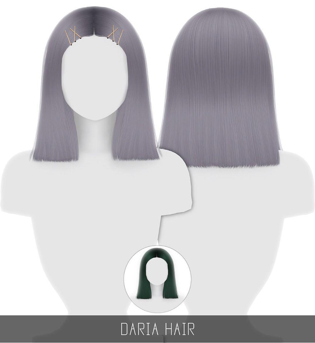 Épinglé par Marie sur Sims 4 cc Sims, Cheveux sims et