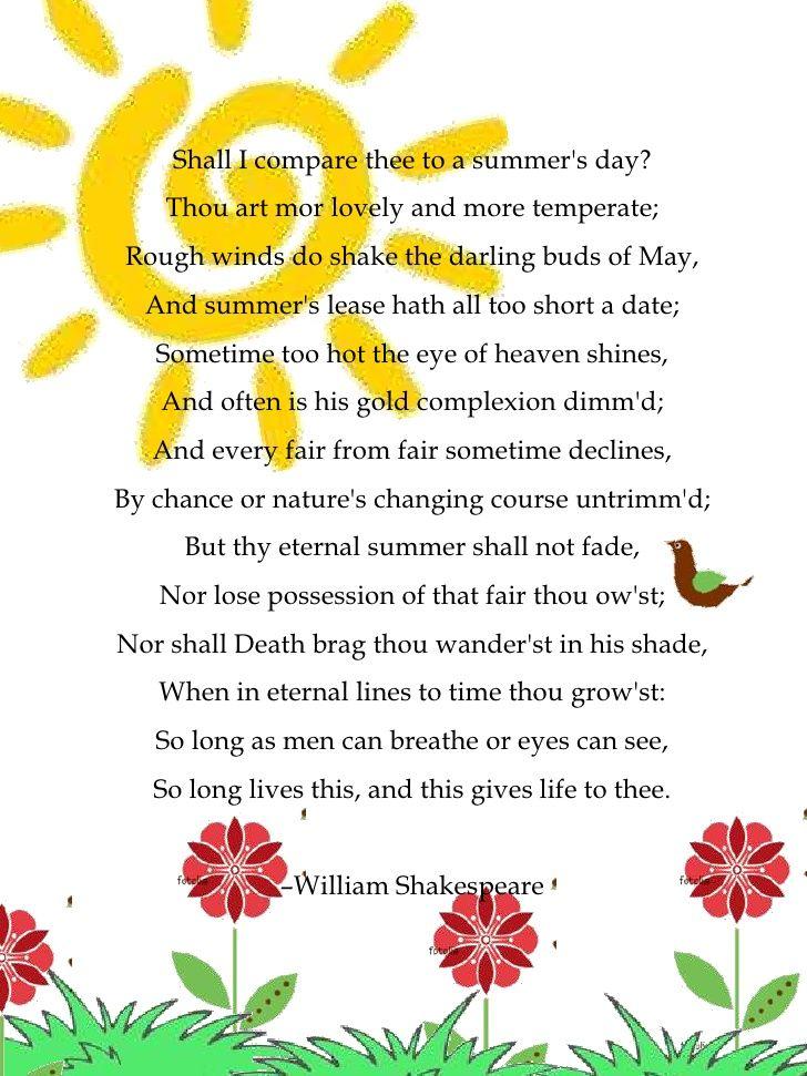 Sonnet 18 Summer Pinterest Sample Resume Resume And 18th