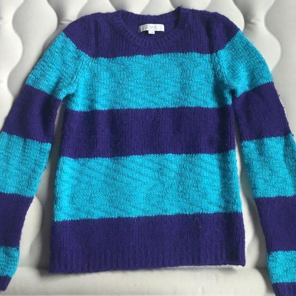 Ann Taylor LOFT Blue & Purple Striped Sweater! Cute & comfy bright ...