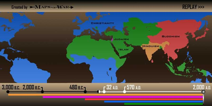 See 5 000 Years Of Religious Evolution In Just 90 Seconds Humanism