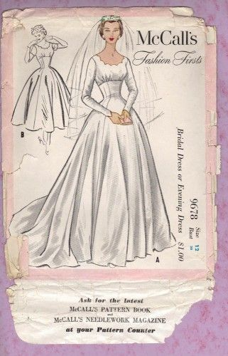 Mccalls Bridal Sewing Patterns Bridal And Evening Gown Sewing Pattern For Diy Wed Vintage Wedding Dress Pattern Vintage Dress Patterns Bridal Sewing Patterns