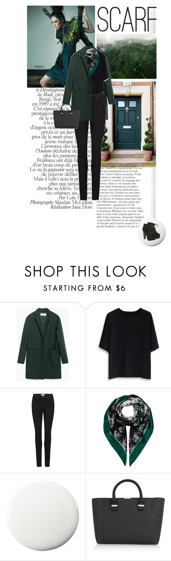"""""""Green"""" by doris-knezevic ❤ liked on Polyvore featuring Zara, Chicwish, Paige Denim, Dolce&Gabbana, Pure Home, Victoria Beckham and Breckelle's"""