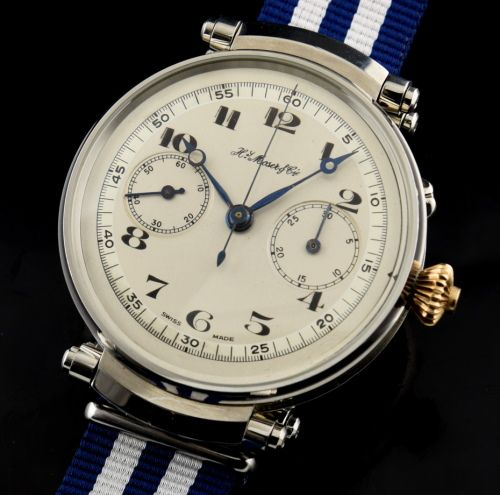 H. Moser and Cie Converted Pocket Watch Chronograph