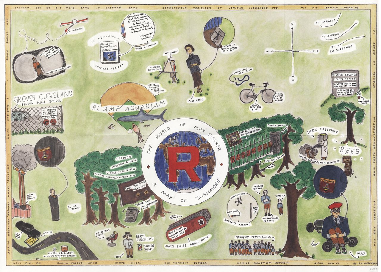 Eric Andersons Rushmore map illustration Pinterest