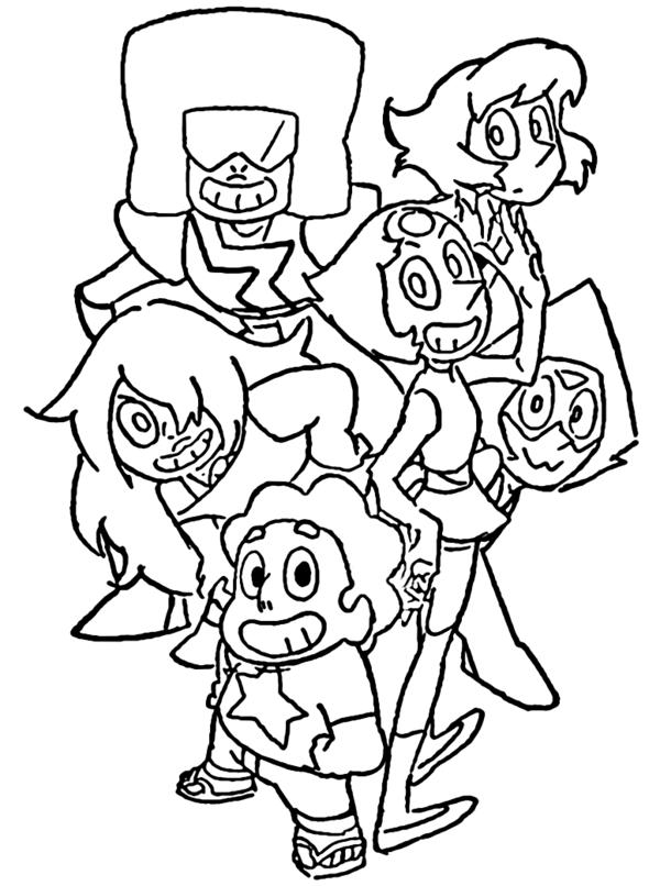 Steven Universe Coloring Pages Best Coloring Pages For Kids In 2020 Coloring Pages Cartoon Coloring Pages Cute Coloring Pages
