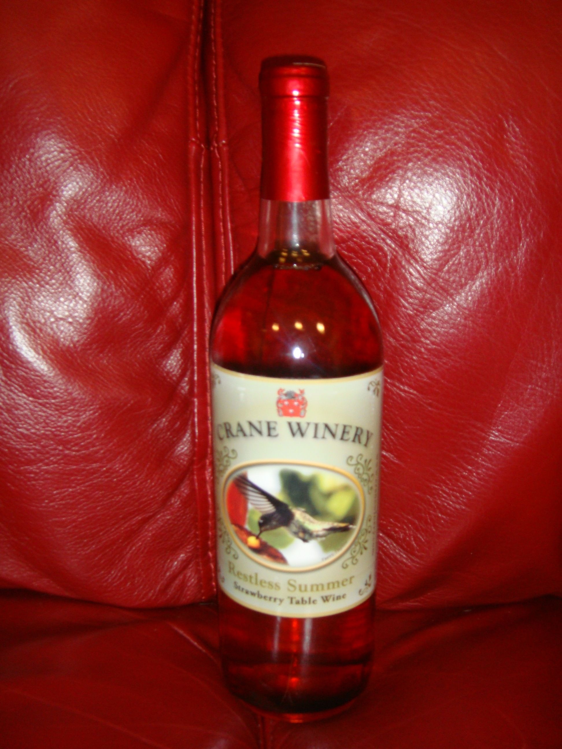 Restless Summer Strawberry Table Wine By Crane Winery In Selma Ia Wine Bottle Wine Winery