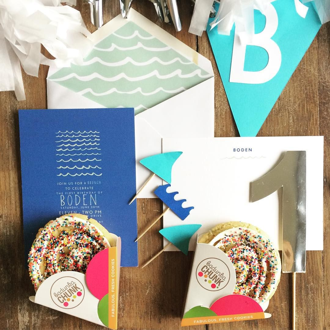 Adorable 1st birthday Petit Bateau for Paperless Post stationery for ...